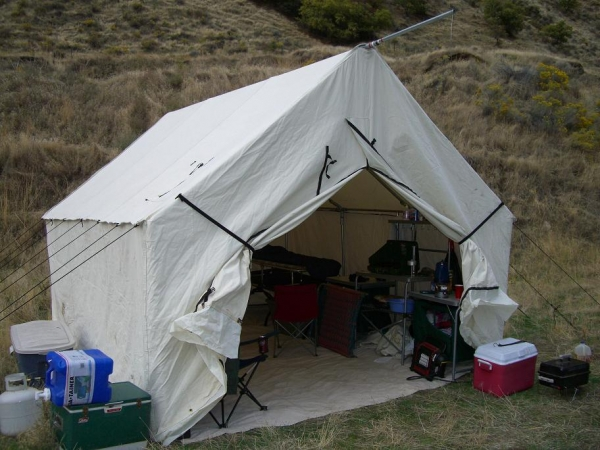 Montana canvas wall tent steelhead for Wall tent idaho