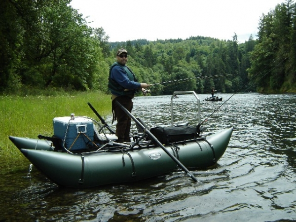 2 man pontoon boat steelhead salmon and for Fishing pontoon boats