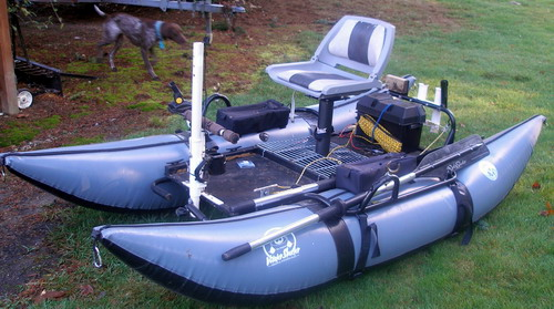 9 39 Pontoon Boat With Electric Motor And Fish Finder
